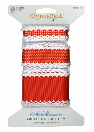 Crocheted Edge Trim Red