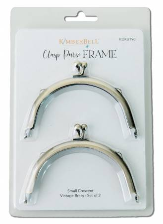KB Clasp Small Crescent Purse Frame Vintage Brass 2pc