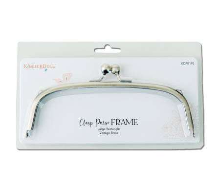 Clasp Purse Frame/Large Rectangle Vintage Brass (Set of Two) (Kimberbell)