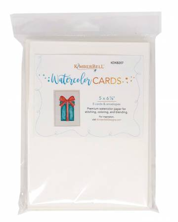 Premium Watercolor Cards and Envelopes 5in x 6-7/8in