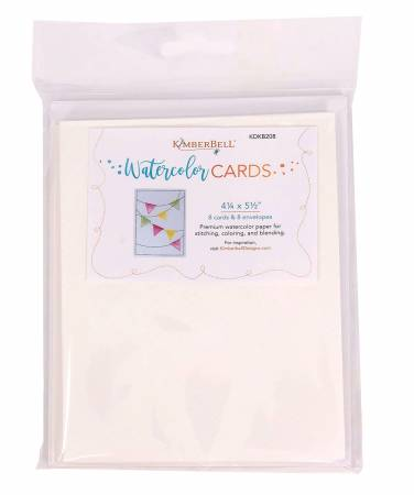 Premium Watercolor Cards and Envelopes 4/1/4in x 5-1/2in