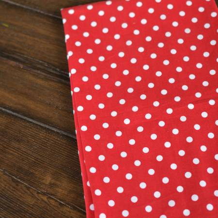 Polka Dot Tea Towels Red Set of Two
