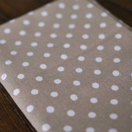 Polka Dot Tea Towels Grey Set of Two