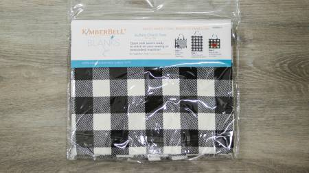 KIMBERBELL BUFFALO CHECK TOTE BLACK/WHITE