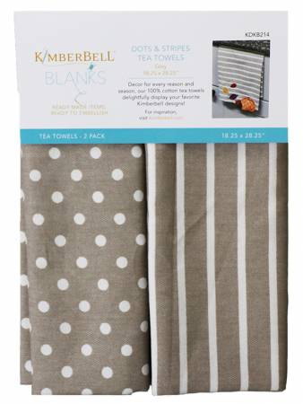 KB DOTS & STRIPES TOWELS GREY