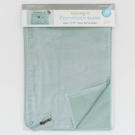Kimberbell Dusty Teal Zipper Pouch Blank, Large