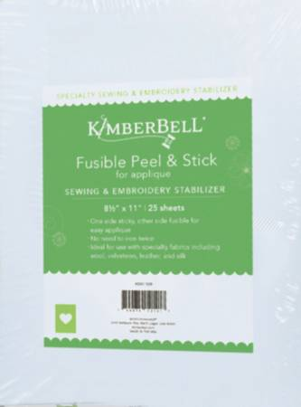 Kimberbell Fusible Peel & Stick For Easy Applique 8.5in x 11in 25pk
