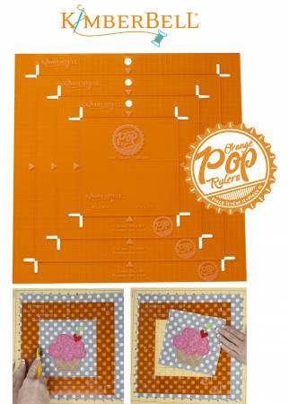 Orange Pop Rulers Square Set KDTL101