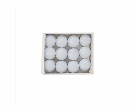 White Enamel Magnets 12ct
