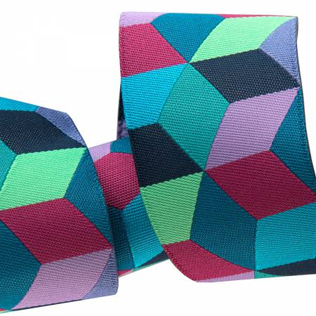 1 1/2in Ribbon Blue Tumbling Blocks  27yd Roll  Retail $7.00/yd