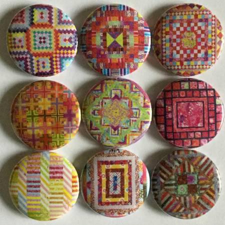 Kaffe Fassett Heritage 9 Quilt Dot Magnets