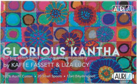 Glorious Kantha Collection by Kaffe Fassett & Liza Lucy 12wt 20 Small Spools