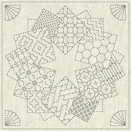 Sashiko Cloth - Kaza-Guruma 1