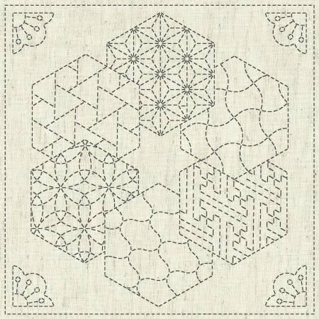 Sashiko Cloth - Kaza-Guruma 2