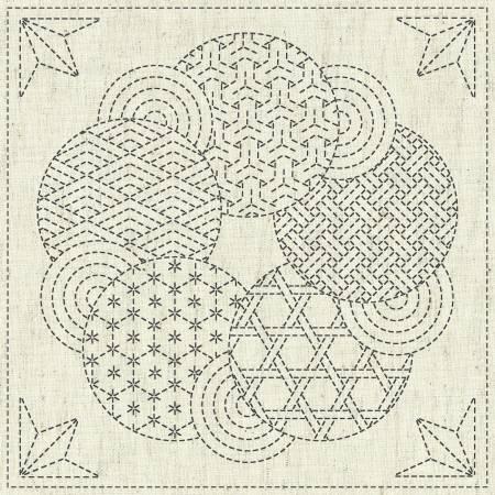 Sashiko Cloth - Kaza-Guruma 3