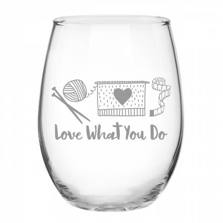 Knit Happy - Do What You Love Glass
