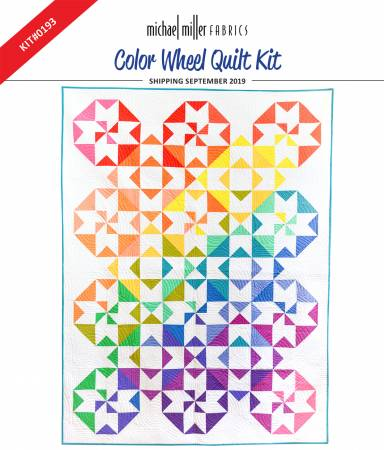 Color Wheel Quilt Kit 51in x 68in