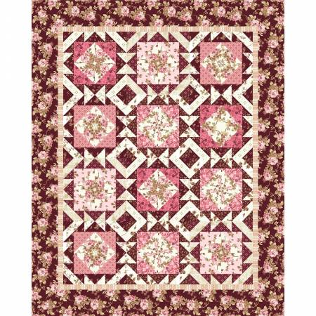 Quilt Kit - Burgundy & Blush - 54in x 66in
