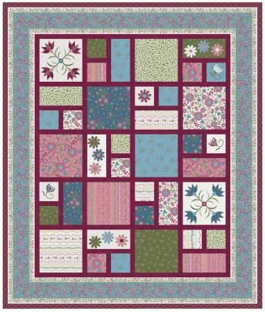 Flower & Vine Quilt Kit, 63in x 75in
