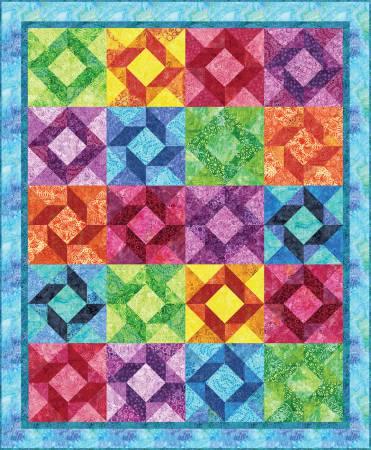 Bright Batik Stars Quilt Kit