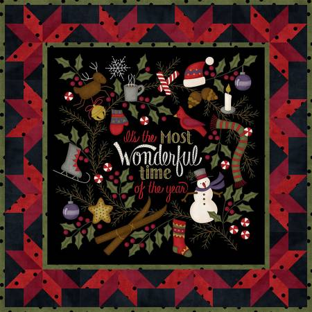Most Wonderful Time Flannel, Wall Hanging & Table Runner