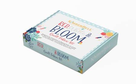 Quilt Kit Red, White & Bloom, 40in x 40in PREORDER