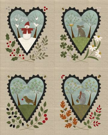 Pre-cut Kit Woolies Flannel Seasons of the Heart, 40in x 48in