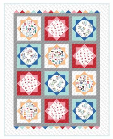 Vintage Boardwalk Beach Blanket Quilt Kit - by Kim Christopherson of Kimberbell Designs -  Makes 60 x 75 quilt