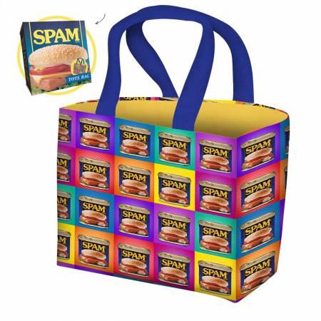 Spam Pop Art Tote Bag Kit, 14in x 12in x 4in, Cotton Duck