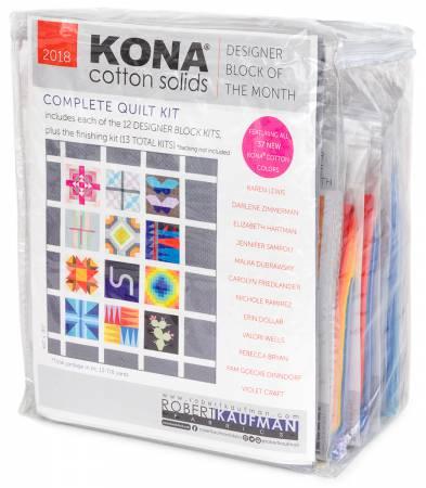 Kona Designer Block of the Month Quilt Kit 60in x 80in
