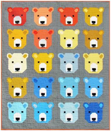 Quilt Kit Bjorn Bear 66in x 78in incl