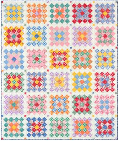 Q - Darlene's Favorites - Granny Squares Quilt Kit  -  62-1/4 x 75