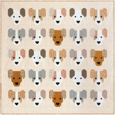 Puppies Quilt Kit, 40in x 52in, pattern, top & binding fabric included