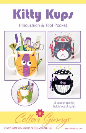 Kitty Kups Pincushion & Tool Pocket Pattern