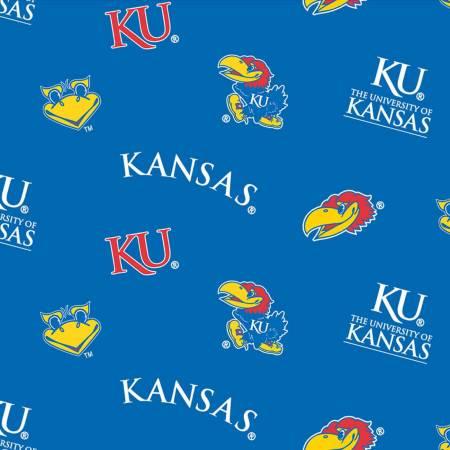 Blue University of Kansas Flat Toss