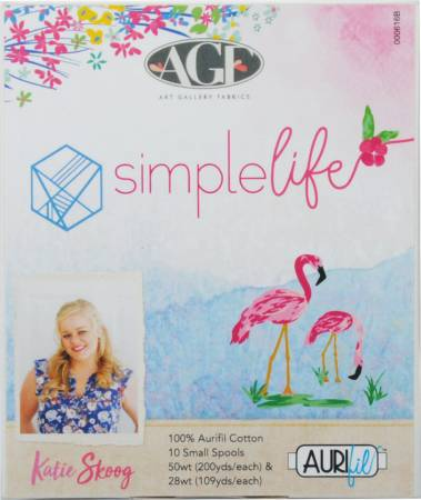 Simple Life by Katie Skoog Cotton Thread Collection 50wt 28wt 10 Small Spools