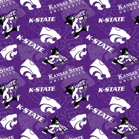 NCAA-Kansas State Wildcats Tone on Tone Cotton