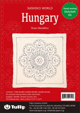 SASHIKO WORLD Hungary Rose Medallion Kit