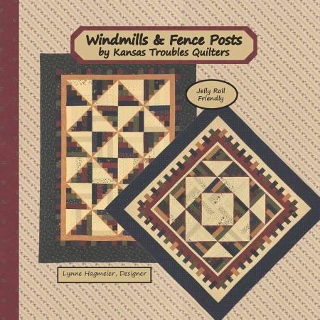 WINDMILLS & FENCE POSTS KANSAS TROUBLES PATTERN BOOK KT 17124G