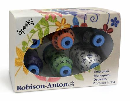 Robison-Anton Polyester 40wt 6 Spool Gift Pack - Spooky