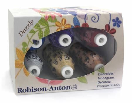 Robison-Anton Premium Metallic Thread 6 Spool Gift Pack - Dazzle