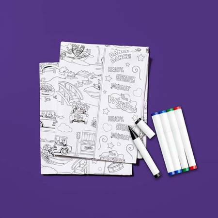 Color Me Pillowcase Kit - Wiggles
