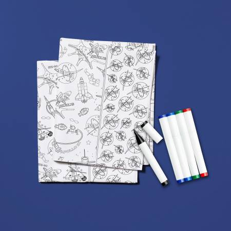 Color Me Pillowcase Kit - Nasa