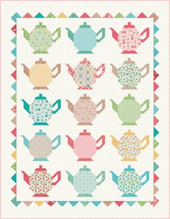 Granny Chic Tea Pots Quilt Kit