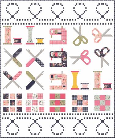 Riley Blake Designs 10th Anniversary Quilt Kit 86 X 103