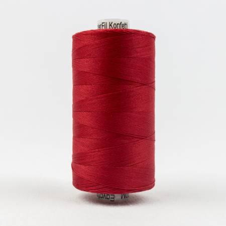 Konfetti 50# 3 Ply Cotton Thread 1000m Spool - 302-Christmas Red