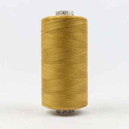Konfetti Solid 50wt Cotton Thread 1000m Dark Gold