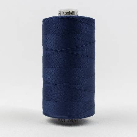 Konfetti 50# 3 Ply Cotton Thread 1000m Spool - 601-Navy