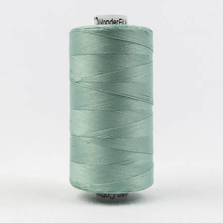 Konfetti 50# 3 Ply Cotton Thread 1000m Spool - 610-Drab Teal