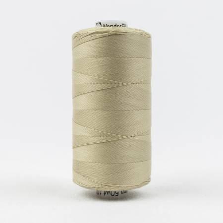 Konfetti Solid 50wt Cotton Thread 1000m Tan